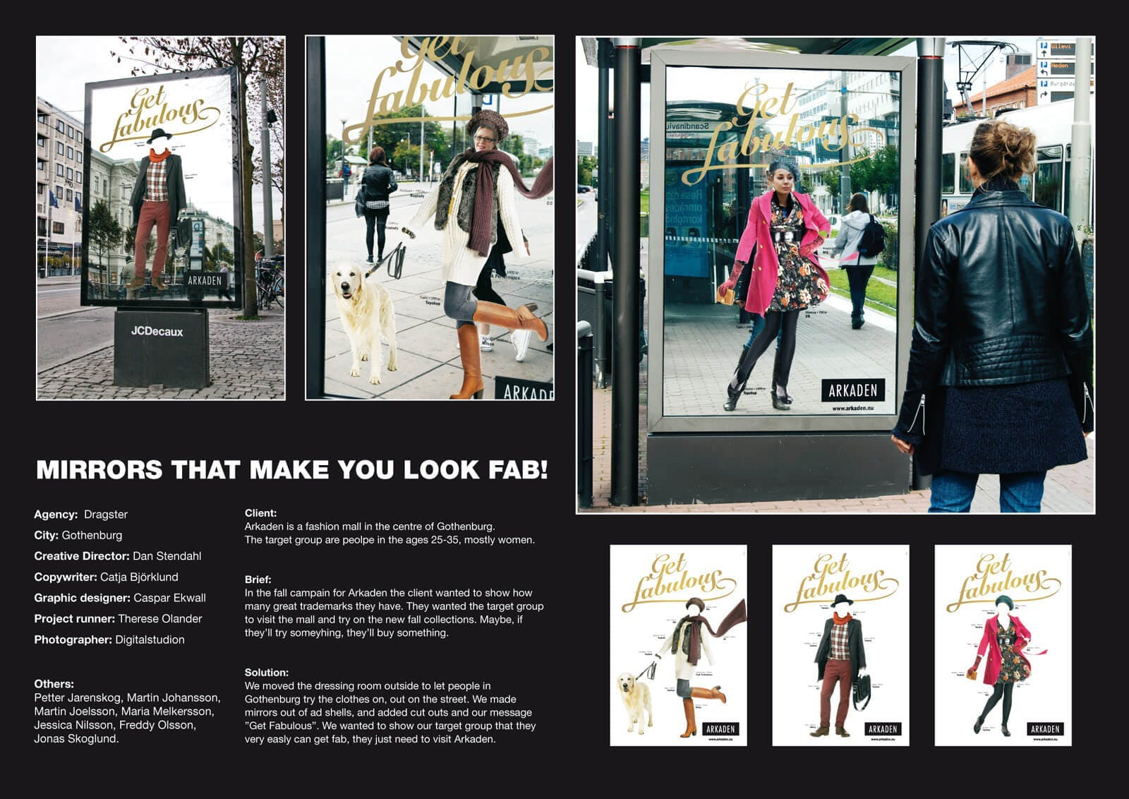 Mirrors that make you look fab - guerrilla campaign of a mall in Gothenburg